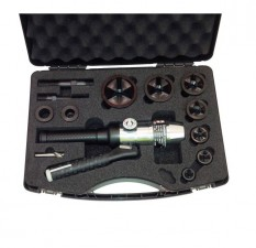 Hydraulic Hole Puncher Straight c/w Case, Accessories, Punch & Dies M16-M63 M/Steel Tri-split