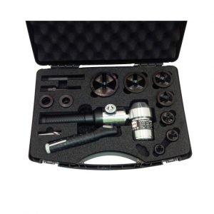 Hydraulic Hole Puncher 90° Head, c/w Case, Accessories, Punch & Dies M16-M63 M/Steel Tri-split