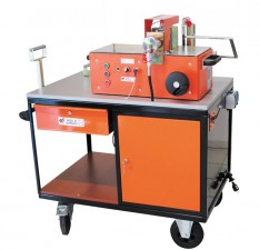 Workshop cart c/w 2 way valve, coupling & drawer