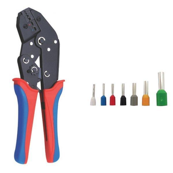 Hand Crimper Ratchet For End Sleeves 0.5mm²-6.0mm²