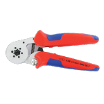 HAND CRIMPING TOOL - RATCHET 4 SIDE CRIMPING FOR CORD END SLEEVES